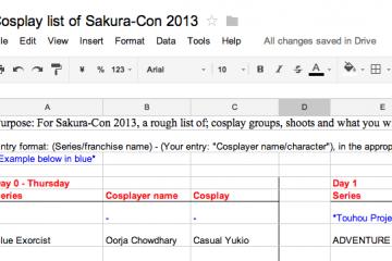Sakura Con Cosplay